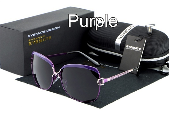 Eyemate High Quality Women's Fashion Driving Sports Outdoors Polarized Lens Mirror Sunglasses