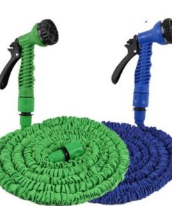 EXPANDABLE FLEXIBLE GARDEN HOSE PIPE EXPANDING & SPRAY GUN